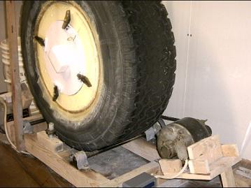 Truck Tire Rock Tumbler