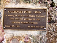 Challenger Point plaque in 2003
